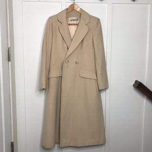 Vintage Denise Originals 100% Cashmere Cream Coat